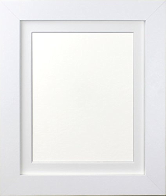 Frames by Post London wei Bild Foto Poster Rahmen mit weiem Passepartout, Holz, wei, 30 x 24 inch Image Größe A2