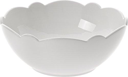 Alessi Mw01/3 Dressed Bol en Porcelaine Blanche avec Décoration en Relief, Set de 4 Pièces