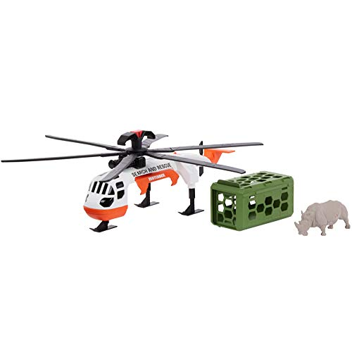 Matchbox Rescue Adventure Set With Vehicle and Animal Figure, Safari Rescue
