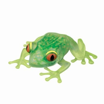 Squishy Stress Forest Frog (ea) - Giant 6 Animal Ooey Gooey Squeezable Toy (Colors Vary)