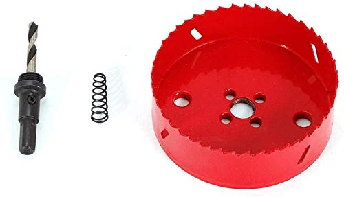 M42 Sierra circular, Juego de abridores de orificio bimetálico, taladro de sierra de agujero rojo 190 mm, sierra de perforación
