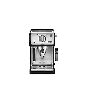 De'longhi ECP35.31 – Cafetera espresso, 1100 W, capacidad 1.1 l, café molido y monodosis para 2 tazas, negro y plata