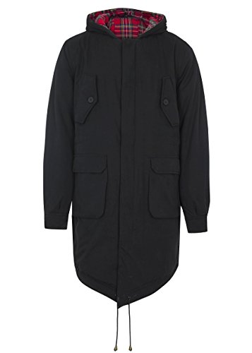 Merc of London Herren, Parka, Mantel, Tobias, Noir (Noir), X-Large (Herstellergröße: XL)
