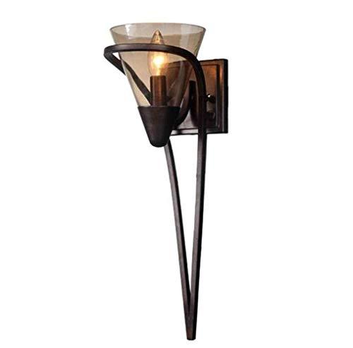 WarmHome Luces De Pared Lámpara De Pared Creativa Pared Cristalina Moderna De Velas Simplicidad Vintage Estilo Rústico, Negro, A