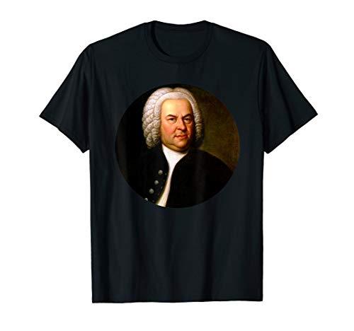 Johann Sebastian Bach Komponist Porträt T-Shirt