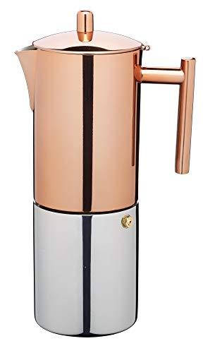 KitchenCraft Le'Xpress 10-Cup Stovetop Espresso Maker, 600 ml - Copper Finish