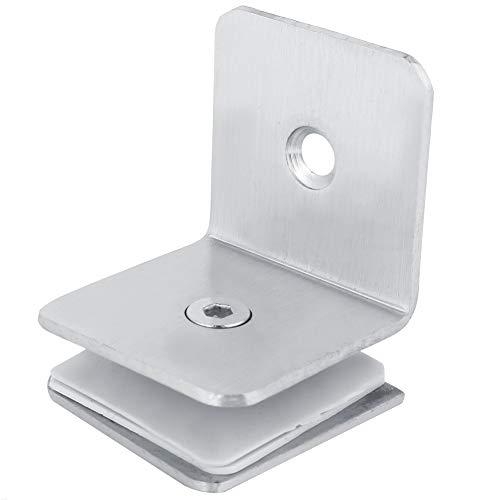 Duschtürscharnier - 90 ° Edelstahl Badezimmer Duschglastürclip Scharnierhalterung