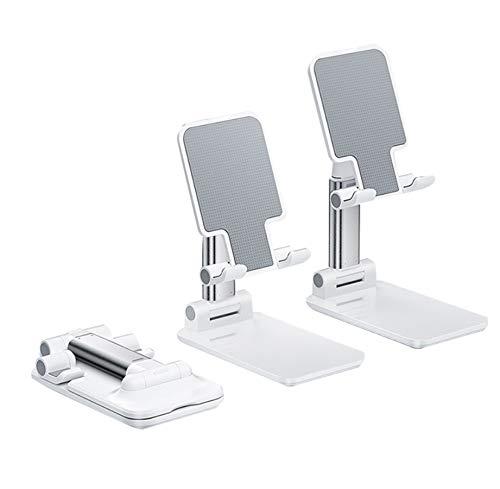 Porta cellulare Porta cellulare da tavolo supporto compatto pieghevole e regolabile per smartphone / tablet, per telefoni iPad, iPhone / Galaxy / Huawei