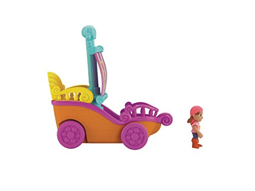 Jake y los Piratas - Barco navega y Corre, Figura Izzy con Accesorios (Mattel BGM29)