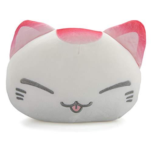 GlamXtensions Nemu Nemo Neko Moshi Rosa- Manga Anime Otaku Kawaii Stofftier - Plüschtier Plush Cat Katze Merchandise zum Kuscheln Original aus Japan Höhe 25cm und Breite 34cm