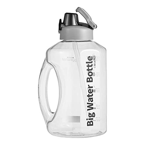 Hearthxy Borraccia Sportiva da 2700 Ml con Cannuccia Borraccia Senza BPA Borraccia con Indicatore Millilitro Riutilizzabile per Corsa, Ciclismo, Lavoro E Palestra, ECC.