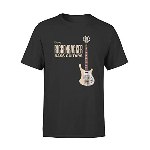 GKVidi Father's Day Black Enjoy Rickenbacker Bass Guitars Shirts - Standard T-Shirt