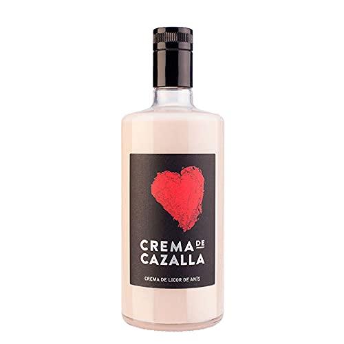 Crema de Licor de Anis Cazalla de 70 cl - Elaborado en Sevilla - Bodegas Grupo Caballero (Pack de 1 botella)