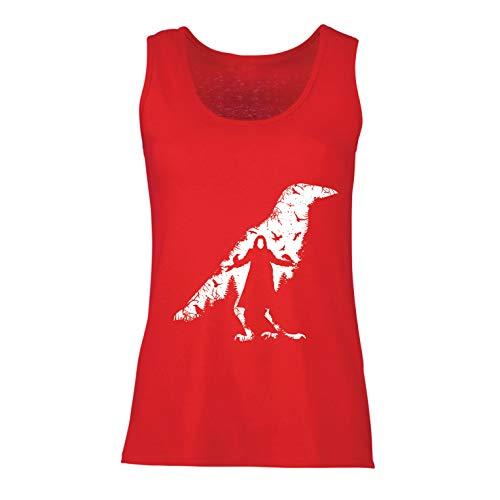lepni.me Camisetas sin Mangas para Mujer El Cuervo - Los Muertos y Las Almas perdidas (Small Rojo Multicolor)
