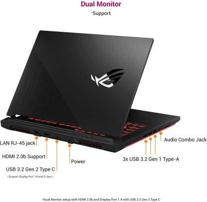Asus ROG Strix G15 Core i5 10th Gen - (8 GB/1 TB SSD/Windows 10 Home/4 GB Graphics/NVIDIA Geforce GTX 1650 Ti/144 Hz) G512LI-HN059T Gaming Laptop (15.6 inch, Black Plastic, 2.3 kg)