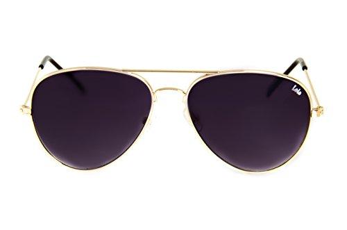 Lois - Flyer GL5, Gafas de Sol Moda Unisex Metal, Dorado/Gris Degradado Aviator unisex aviador sin polarizar Rojo