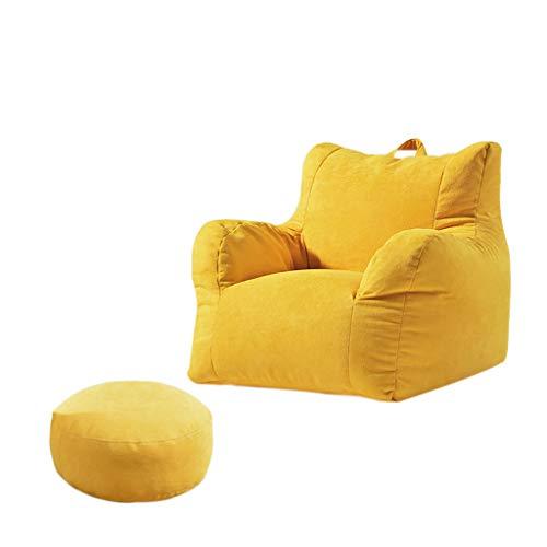 SD Pouf Poire/Chaise de Sol/canapé/1 Poches/avec Repose-Pied/avec poignée/pour Enfants et Adultes