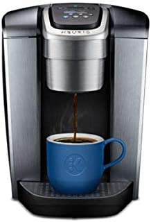 Keurig K-Elite Single Serve K-Cup Pod Maker with with Strength and Temperature Control, Iced Coffee Capability, 12oz Brew Size, Brushed Silver (Renewed)