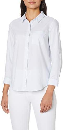 Camisa para Mujer con un Bolsillo en Color Azul xenón