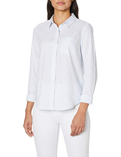 Levi's - Camisa moderna de bolsillo para mujer, diseño de rayas azules xenón
