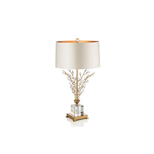 STERB Postmodern Crystal Table Lamp Club Hotel Villa Bedside Decorative Lamps Metal Flower Lamp Art Deco