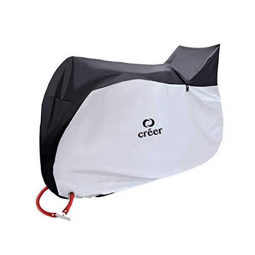 créer 自転車カバー 防水 厚手 子供乗せ 雪 雨避け UV加工 収納袋付 ロックホール付