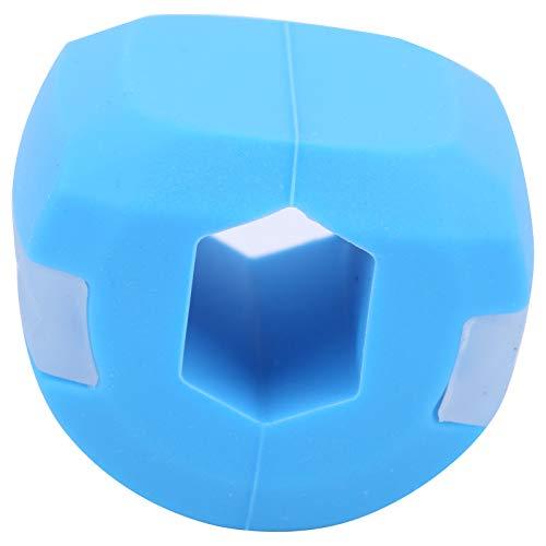 Allsor Pelota de Ejercicios de mandíbula de Gel de sílice, Pelota de Fitness para Barbilla, Ejercitador de línea de mandíbula Pelota de Fitness, Entrenador de músculos de mandíbula(Blue)