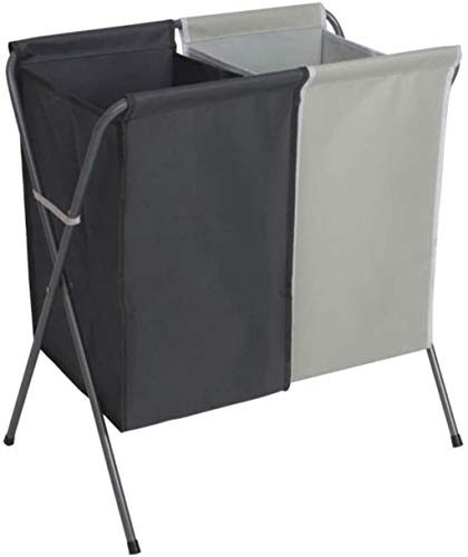ROSSLBF Wasmand Sorter wasmand Opvouwbare vuile kleren Bag wasmand Sorters (Color : Dark Gray+light Gray, Size : Large)