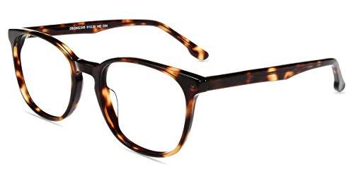 Firmoo Gafas Luz Azul para Mujer Hombre,Gafas Gaming Anti UV para PC, Móvil TV, Tablet Protección contra Luz Azul, D62305 Tortuga