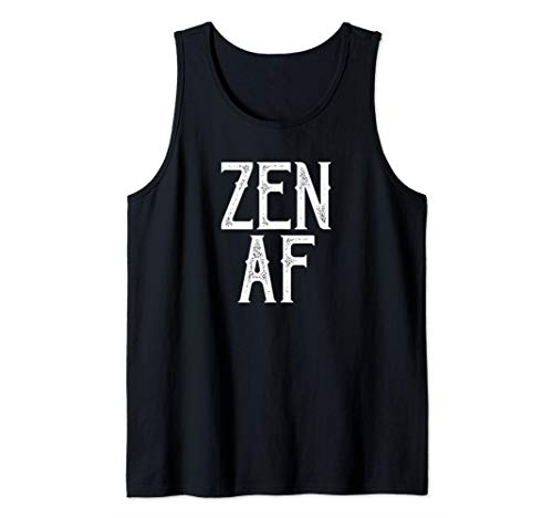 Zen AF Yoga Lover Namaste Meditation Teacher Slogan Tank Top