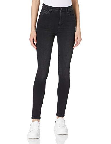 Springfield Jeans Sculpt High Rise Pantalones, Negro, 38