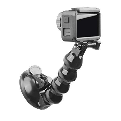 qianqian56 Zwart Auto Beugel Houder Zuignap Mount Adapter Rijden Recorder Bal Hoofd Statief Voor Pocket Actie Camera Accessoires, ONE, Zwart