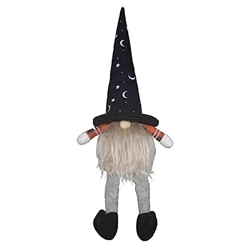 Dasongff Halloween Deko, Gesichtslose Puppe GNOME,Glühender Zwerg gesichtslose Puppe Anhänger Dekoration Sitzende Rudolph Puppe Plüschdekoration Ornament Gnom Dekor