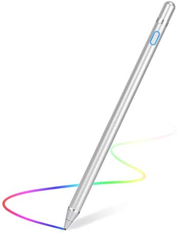 Stylus Pen for Touch Screens Rechargeable 1.5mm Fine Point Active Stylus Pen Smart Pencil Digital Compatible iPad and Most Tablet (White 1)