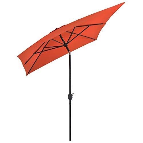 Cikonielf Sombrilla Parasol para jardín, Parasol Rectangular 300 x 200 x 252 cm, Parasol Anti-UV con Manivela para Jardín, Terraza, Balcón, Patio, Terracota