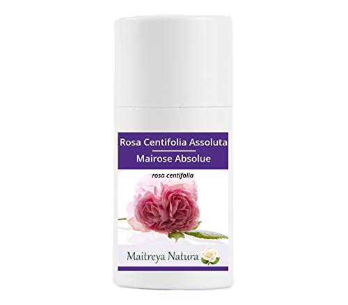 Maitreya Natura Olio Essenziale ROSA CENTIFOLIA ASSOLUTA 100% puro e naturale, 1ml - aromaterapia, diffusore, massaggio, cosmetica - qualità controllata e certificata, vegan
