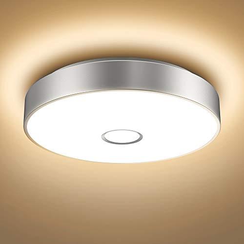 Onforu 18W LED Deckenleuchte Badezimmer, IP65 Wasserdicht Deckenlampe, 1600lm 2700K Warmweiß Küchenlampe, CRI 90 Badezimmerlampe, Modern Decke Badlampe Lampe für Küche, Schlafzimmer, Wohnzimmer, Bad