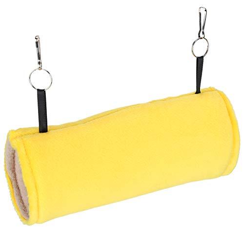 Germerse Jaula Colgante para Mascotas, Nido de hámster Hamaca para hámster Tienda de campaña para Mascotas Fácil instalación con Gancho para pájaros domésticos para erizos(Yellow)