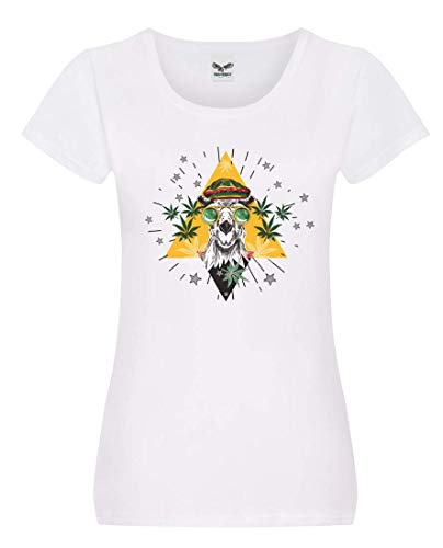 Camiseta con diseño de camel Marihuana gafas Jamaica, para mujer y mujer
