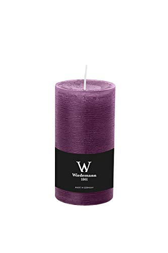 INNA-Glas Set 3 x Rustic candle/Block candle AURORA, violet, 5.1'/13cm, Ø2.7/6,8cm, 54h - Made in Germany - Decorative candle/Household candle