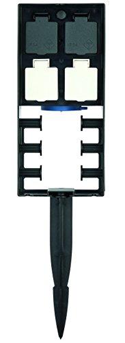 OASE 54978 InScenio FM-Master 1 - 2 permanente und 2 ausschaltbare Gartensteckdosen mit Funkfernübertragung und Spritzschutz zur Stromversorgung für den Garten und Außenbereich