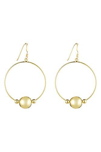 Córdoba Jewels   Pendientes en plata de Ley 925 bañada en oro. Diseño Aro Esferas