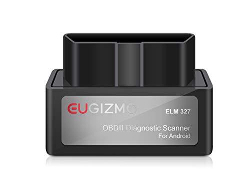 EUGIZMO Bluetooth OBD2 Scanner OBD2 Car Diagnostic Code Reader for Android & Windows, Check Engine Light Scan Reader. Supports Torque Pro & Lite, OBD Fusion, DashCommand, Car Scanner App, Gray