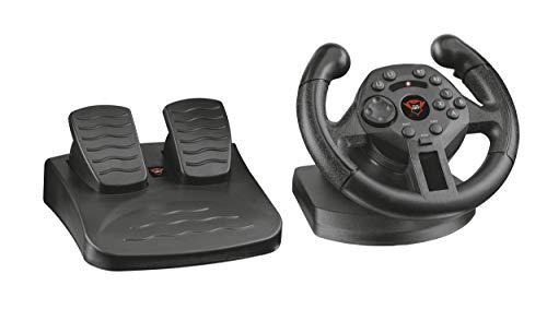 Trust GXT 570 - Volante Gaming de Competicion con Respuesta de Vibracion para Pc y Ps3, Negro