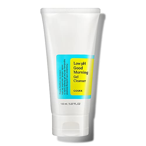 COSRX Low pH Good Morning Gel Cleanser, 5.07 fl.oz / 150ml | Mild Face Cleanser | Korean Skin Care for Acne Prone Skin, PH Balancing, Anti Acne, Breakouts Treatment