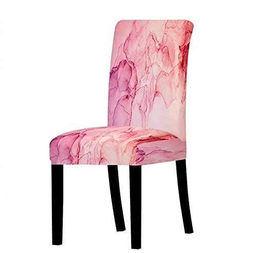 Colorido patrón de mármol cubierta de la silla del asiento del escritorio del Spandex cubiertas del asiento del protector de las fundas del asiento para el hotel banquete