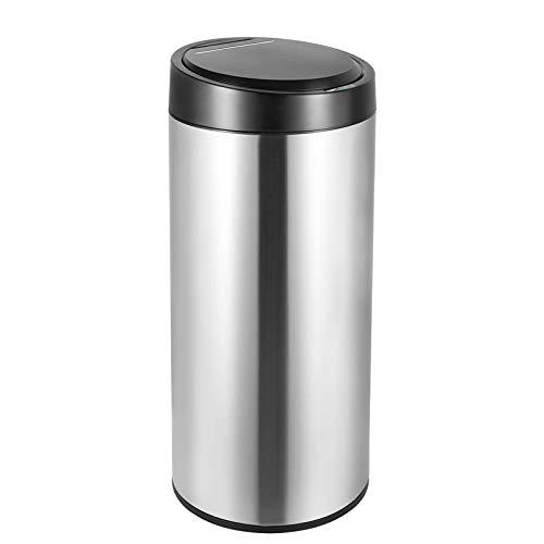 Homfa Mülleimer mit Sensor 30L Automatischer Abfalleimer Bewegungssensor Küchenabfalleimer Automatisches Öffnen und Schließen Abfallbehälter Edelstahl Silber