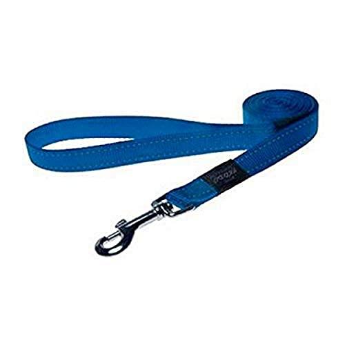 Rogz Praktische Leine mit Fixlänge, Größe L, blau
