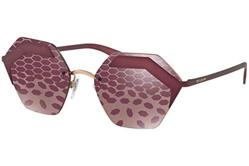 Bulgari 0Bv6103 2032H5 57 Gafas de sol, Morado (Plum/Dark), Mujer