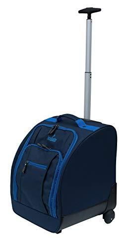 Acclaim Corbridge Trolley für vier Schüsseln, flach, grün, kurz, für 4 Bowls, mit wasserdichter Tasche, Modell 2020, marineblau/himmelblauer Rand